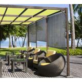 Store d'ombrage 120 x H 180 cm Brun Havane - 165g/m²